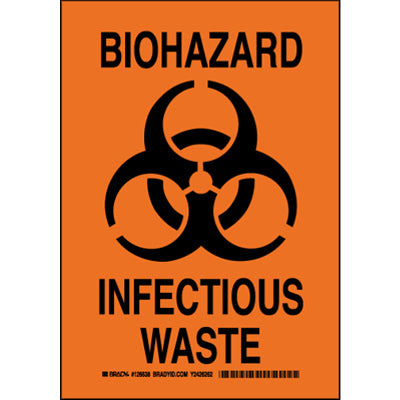 BIOHAZARD INFECTIOUS WASTE DECAL SIGN