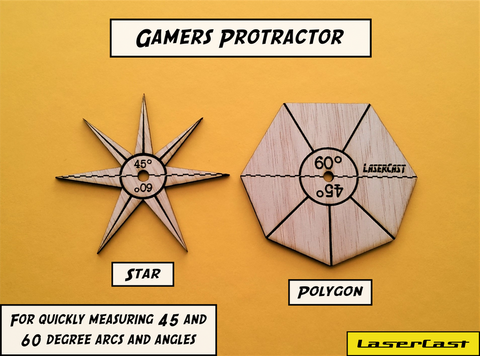 Games protractor built by LaserCast with Plyco Laser Plywood