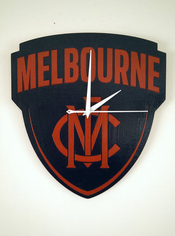 LaserCast's Melbourne FC clock built with Plyco Beech Laser Plywood