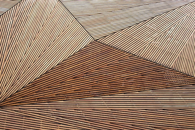 Architectural Plywood Sheets and Panels in a creative wall design