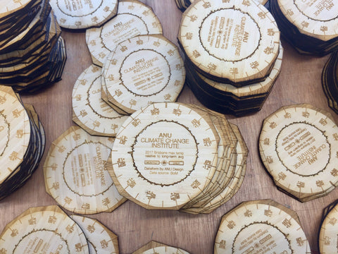 ANU climate change clocks built with Plyco Laser Plywood