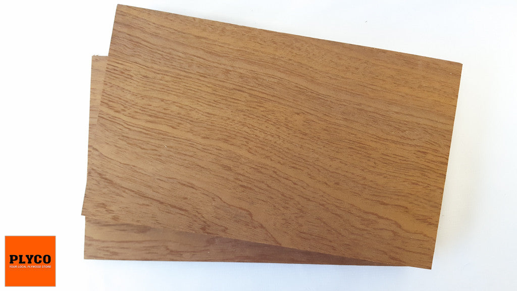 An image of Plyco's Sapele timber veneer on Particle Board