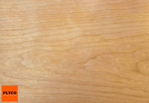 Image of Natural American Cherry timber veneer pressed on Birch Plywood