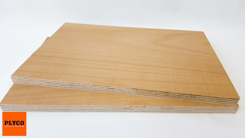 Image of Natural European Beech timber veneer pressed on Birch Plywood
