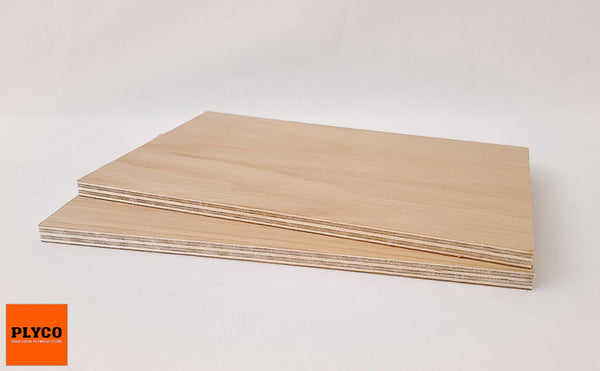 Image of Natural American Oak timber veneer pressed on Birch Plywood
