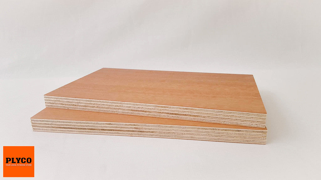 An image of Plyco's Natural Jarrah timber veneer Birch Plywood Quadro