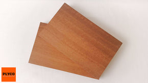 An image of Plyco's Jarrah timber veneer on Particle Board