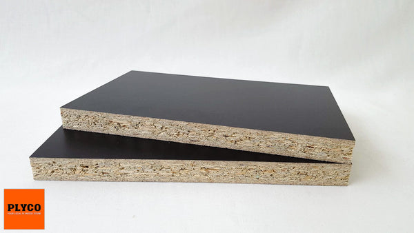 Black Melamine On Particle Board Plyco