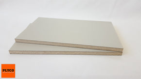 An image of Plyco's Decoply HPL laminate Cloud on Birch Plywood