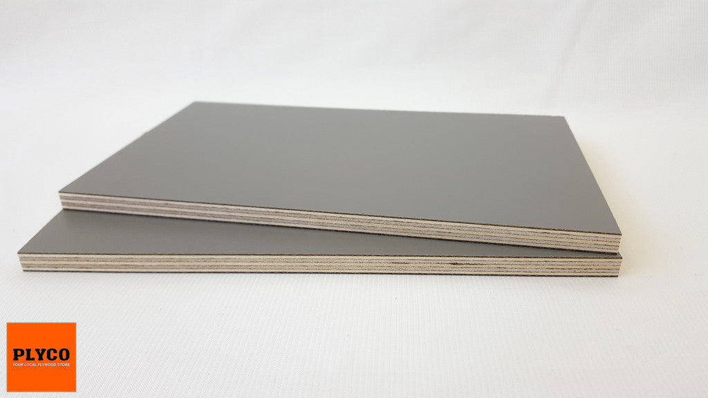 An image of Plyco's Decoply HPL laminate Slate on Birch Plywood