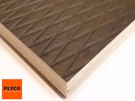 Image of Plyco's architectural Riga Deck pattern finish with a Birch Plywood core.