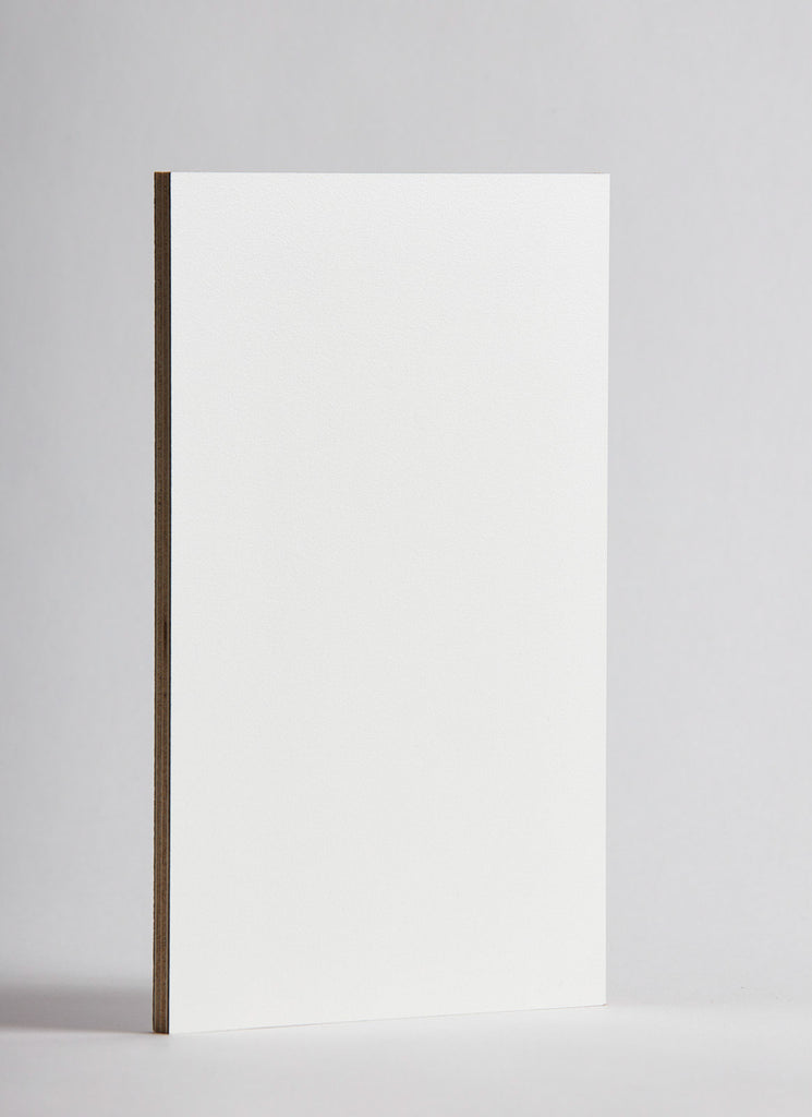 Plyco's Cream Decoply laminated plywood on a white background