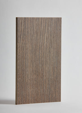 Plyco's Graphite Oak Decoply laminated plywood on a white background