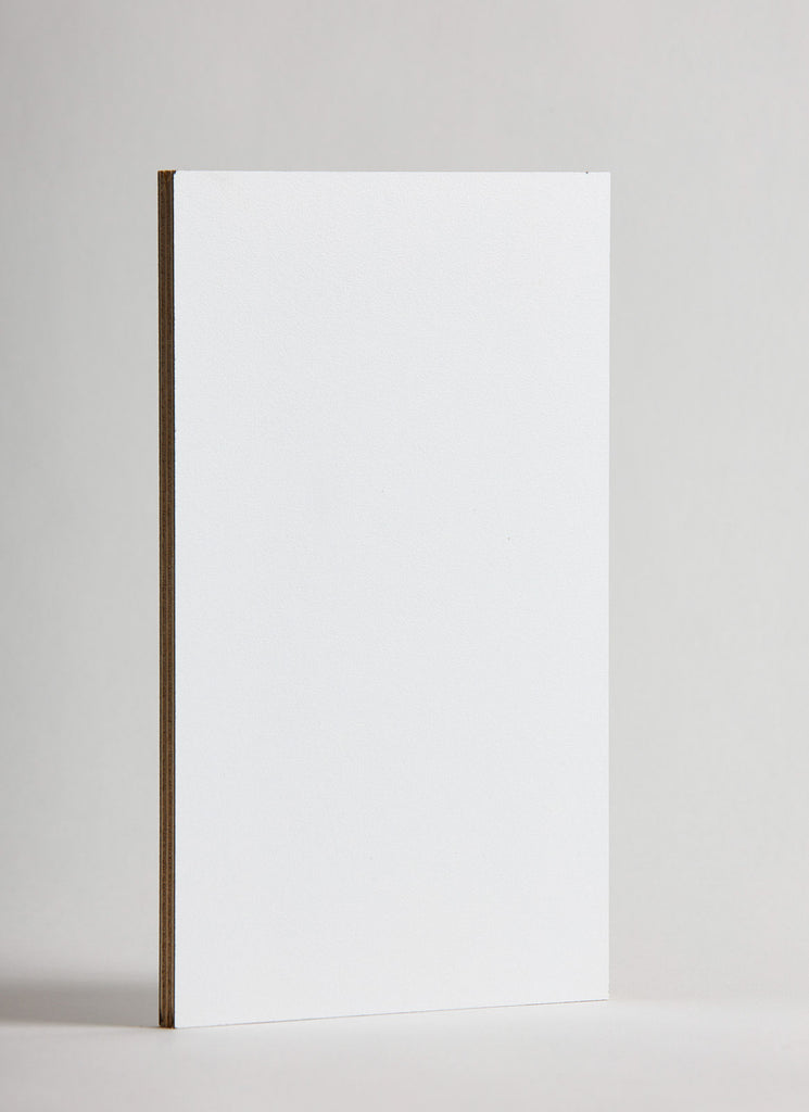 Plyco's Snow Decoply laminated plywood on a white background