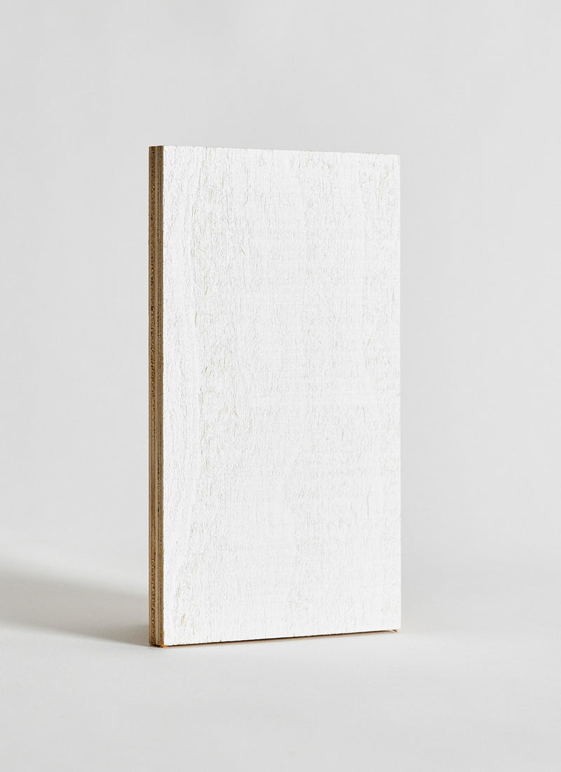 Plyco's Classic Pinoli (Textured/Primed) timber wall panel on a white background