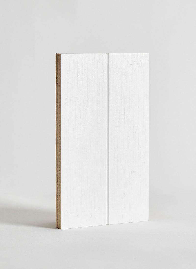 Plyco's VGroove Pinoli (Classic/Primed) timber wall panel on a white background
