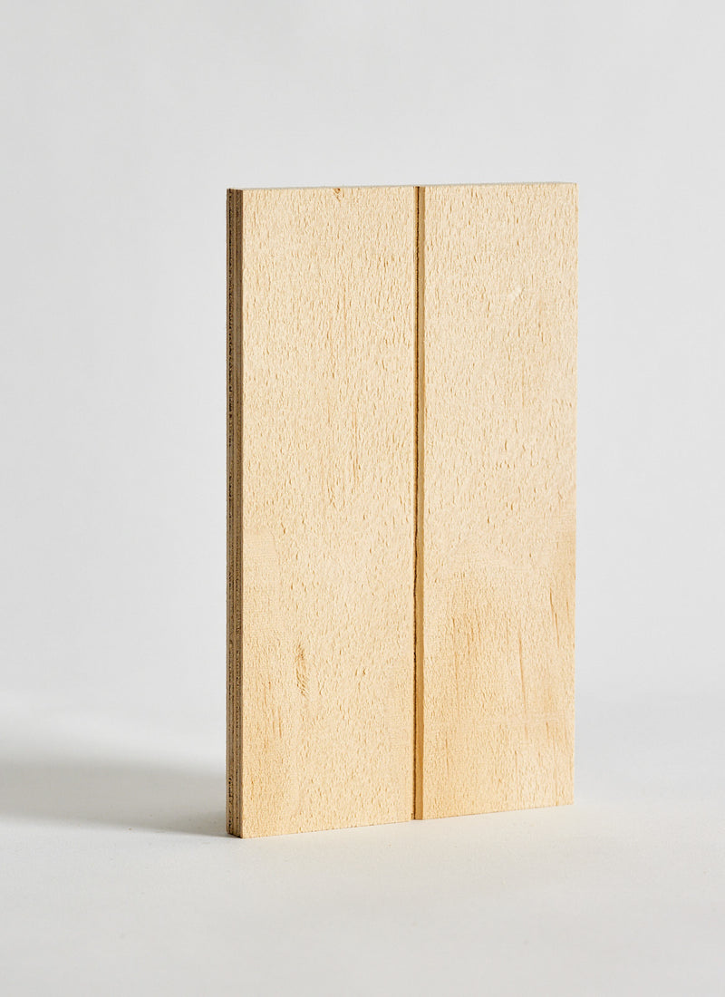 Plyco's VGroove Pinoli (Textured/Natural) timber wall panel on a white background