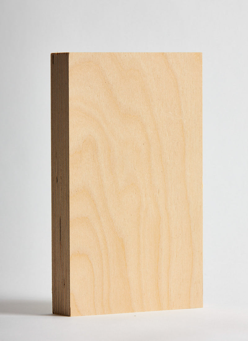 Plyco's Premium Birch 30mm plywood panel on a white background
