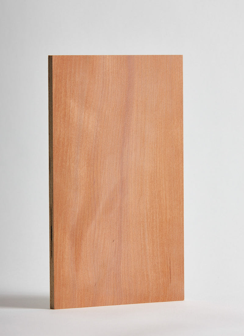 Plyco's Myrtle on Birch 6mm Quadro plywood panel on a white background