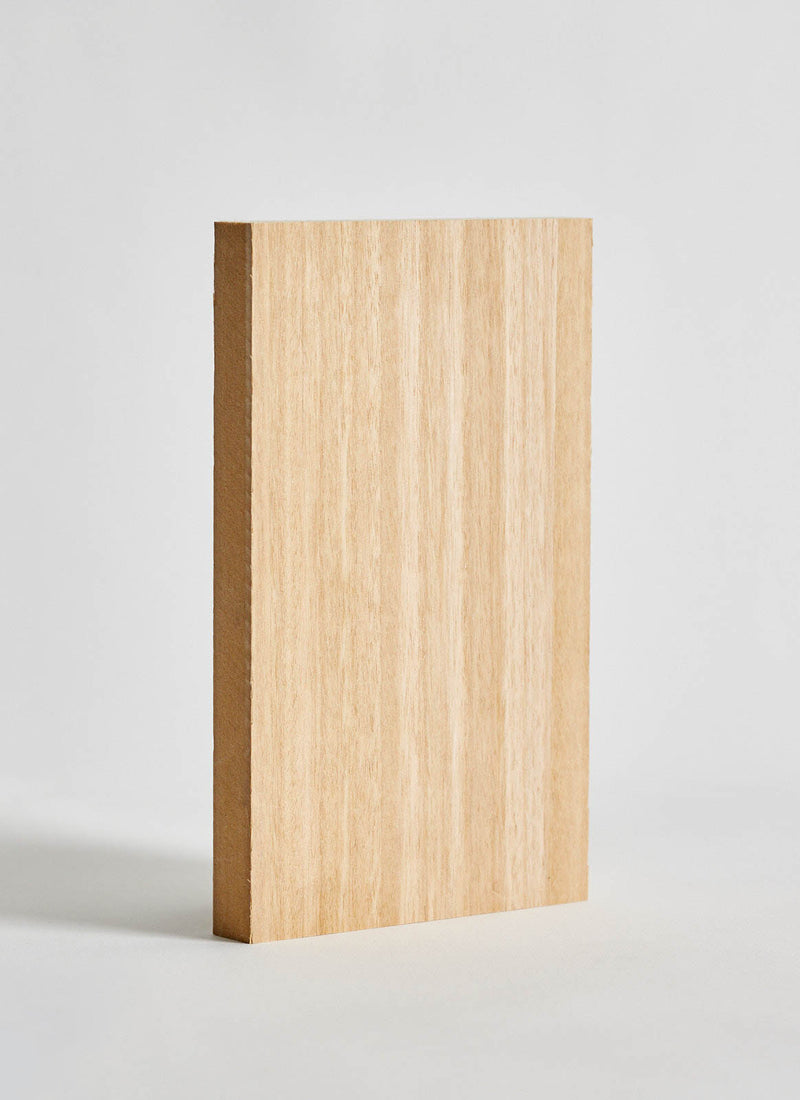 Plyco's Blackbutt Veneered MDF on a white background