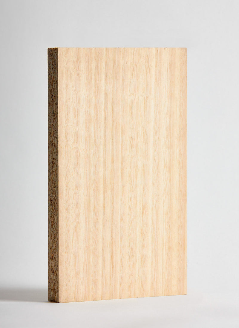 Plyco's 18mm Eucalypt Veneered Particle Board on a white background
