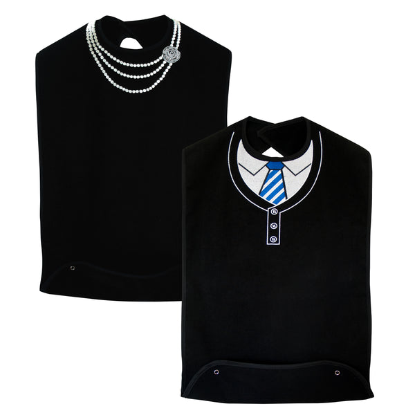 Women's Pearl Necklace & Men's Sweater and Tie (2 Pack)