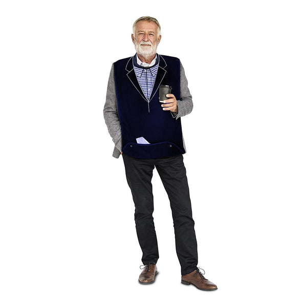 Men's Dress 'n Dine™ Adult Bib Blazer - Classy Pal Dress 'n Dine Adult Bibs