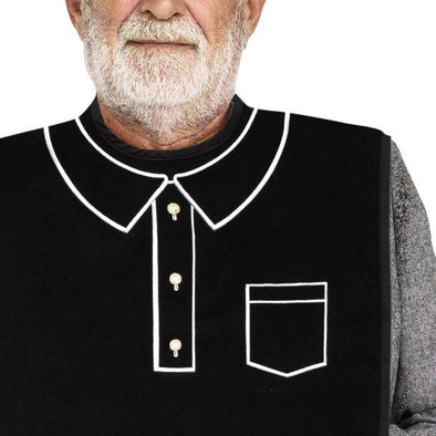 Men's Dress 'n Dine™ Adult Bib Polo - Classy Pal Dress 'n Dine Adult Bibs
