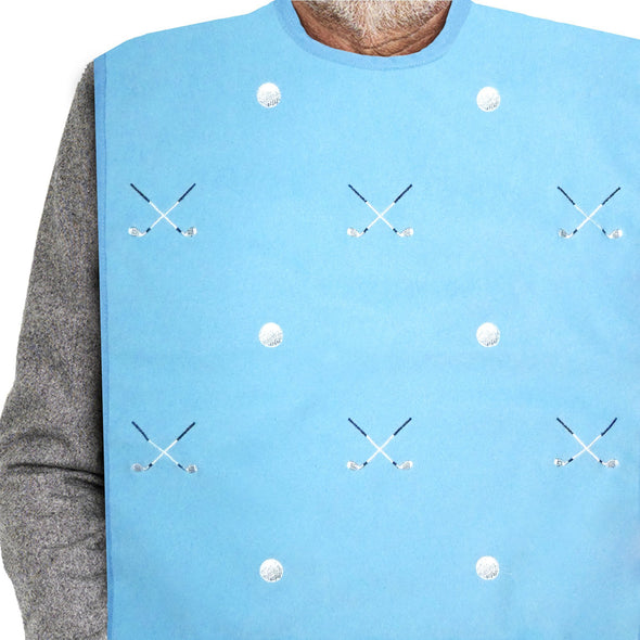 Men's Dress 'n Dine™ Adult Bib with Golf Pattern - Classy Pal Dress 'n Dine Adult Bibs