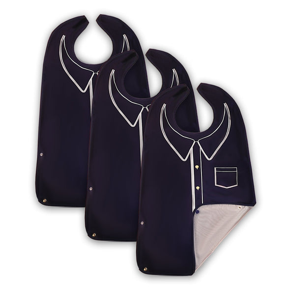 Men's Wipe 'n Wear™ Adult Bib Polo (3 Pack) - Classy Pal Wipe 'n Wear Adult Bibs