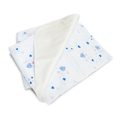 Waterproof Bed Pad with Heart and Flower Design - Classy Pal Bed Pad