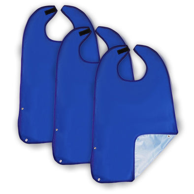 Wipe 'n Wear™ Adult Bib Blue (3 Pack)