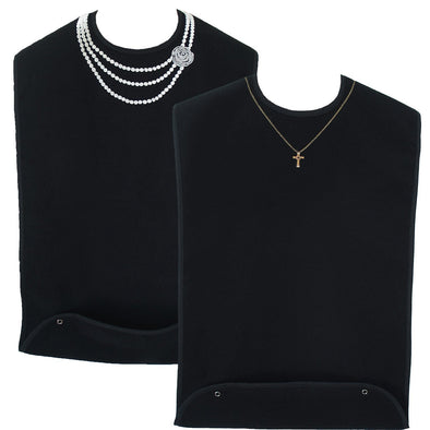Women's Dress 'n Dine™ Adult Bibs with Pearl Necklace and Gold Cross (2 Pack) - Classy Pal Dress 'n Dine Adult Bibs