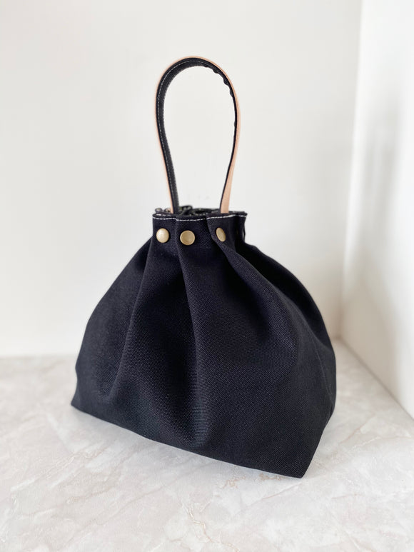 Button Fuji bag - Black canvas