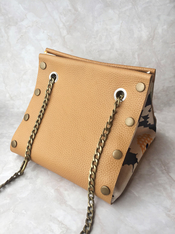 Button cube starter pack (Small) honey colour leather
