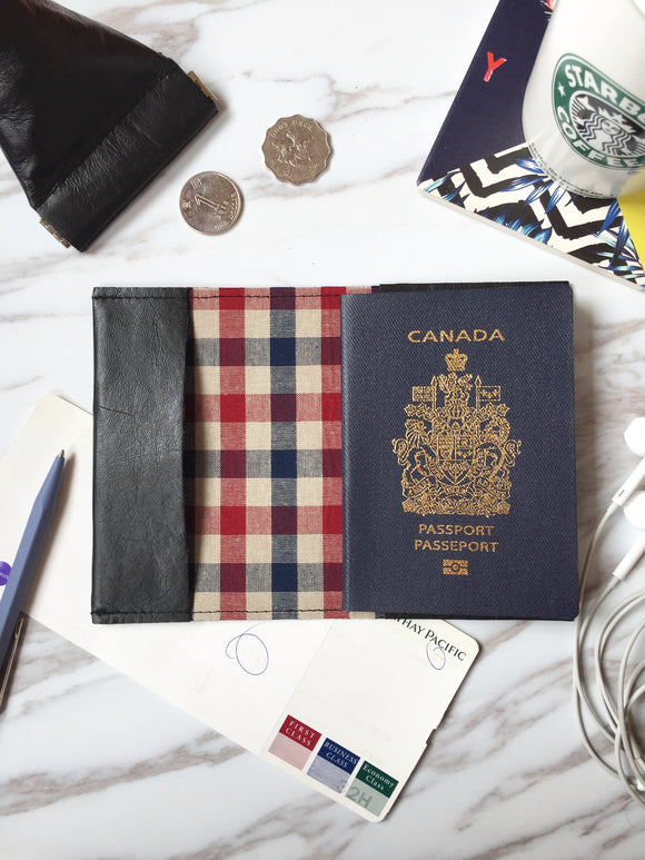 Leather passport sleeve - PS06