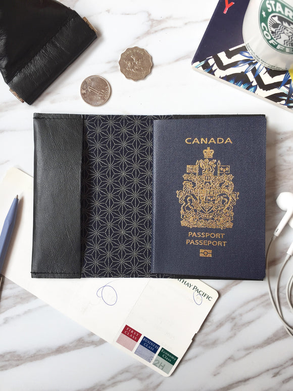 Leather passport sleeve - PS08