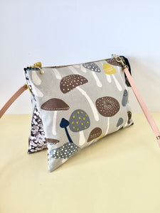 Expandable cross-body duo bag