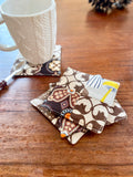 Set of 4 thick fabric coasters