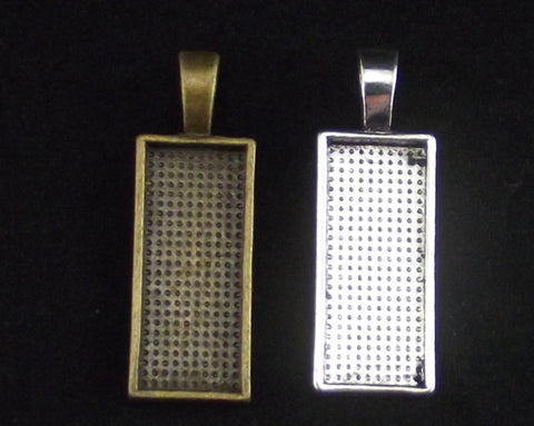 Pendant Bezel Blank in Silver and Bronze