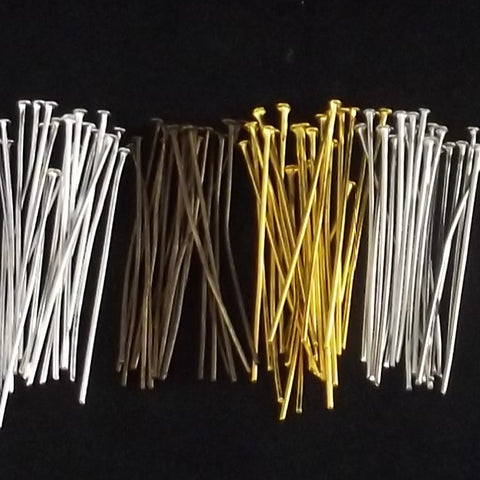 Head Pins 4 mm Various Colors