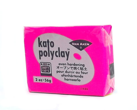 Kato Polyclay 56 g Neon Pink