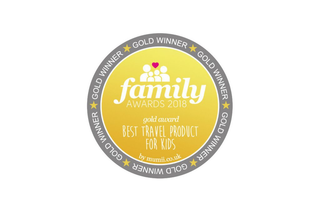 Family Awards 2018 - Gold Best Travel Product For Kids