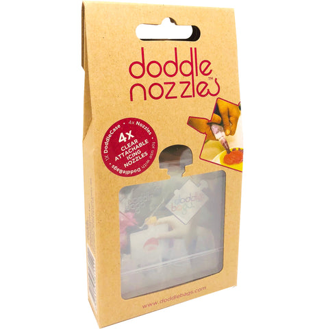 NEW DoddleNozzle Attachment Set x 4 - DoddleBags Food Pouches