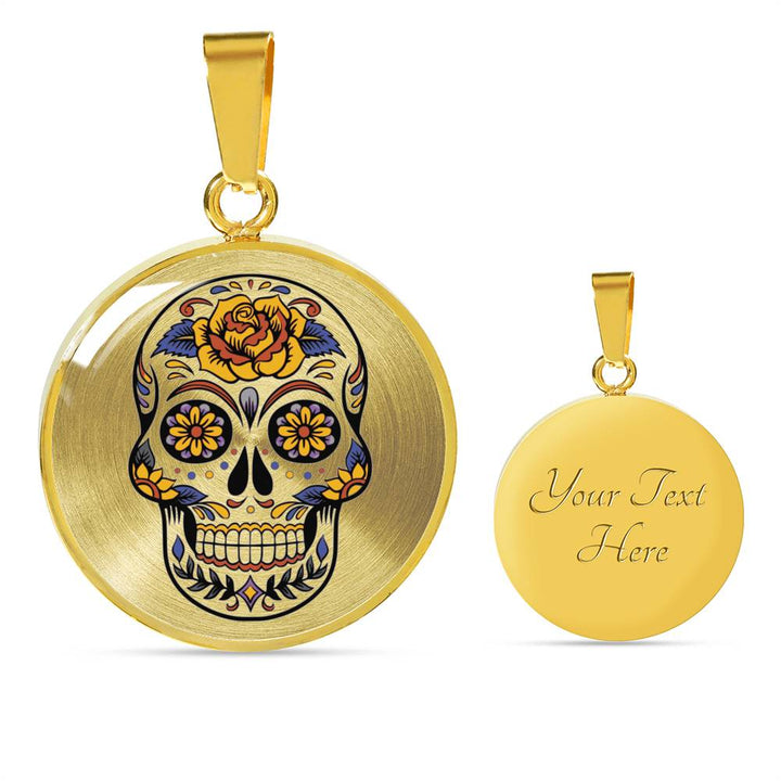 Flower Head Day of the Dead Luxury Necklace