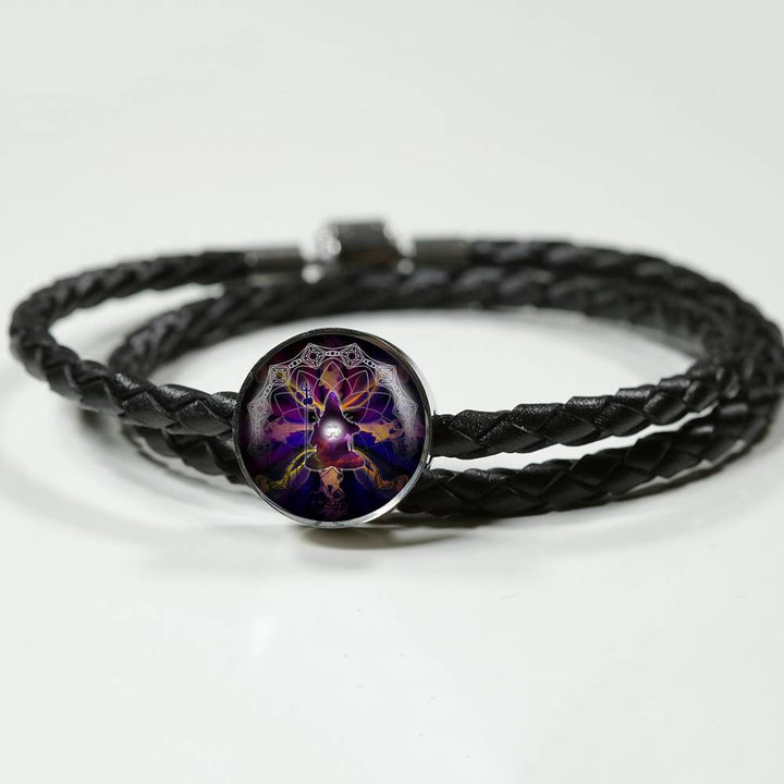 Wild Sacred Circle Leather Bracelet