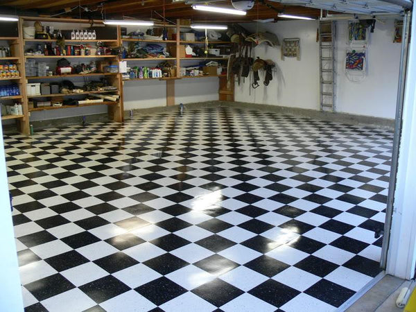 Garage Flooring Ideas Vct Tile Vinyl Plank Rubber Floors