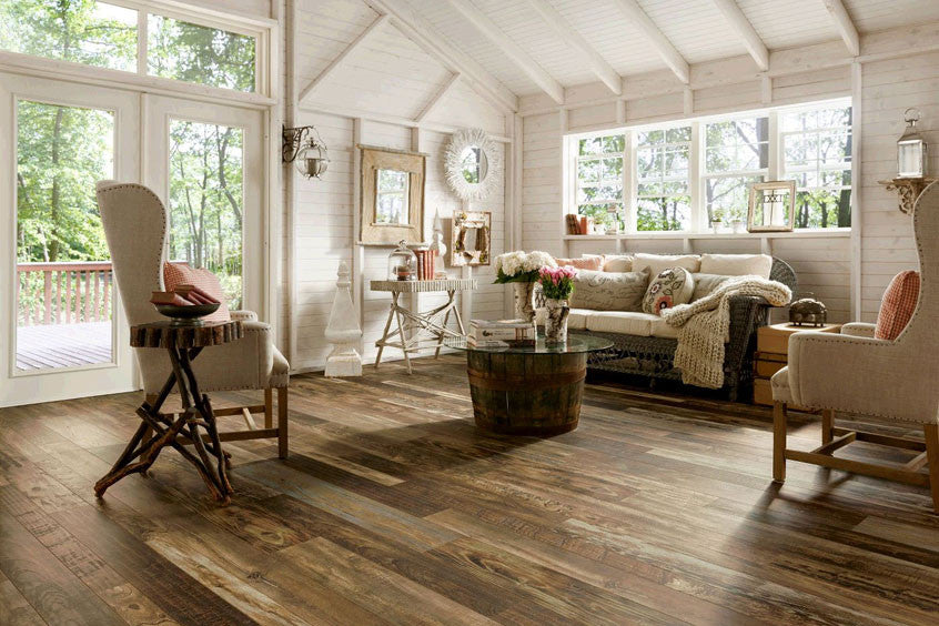 Living Room Flooring Ideas | Wood Floor Options | Tile Design Pictures
