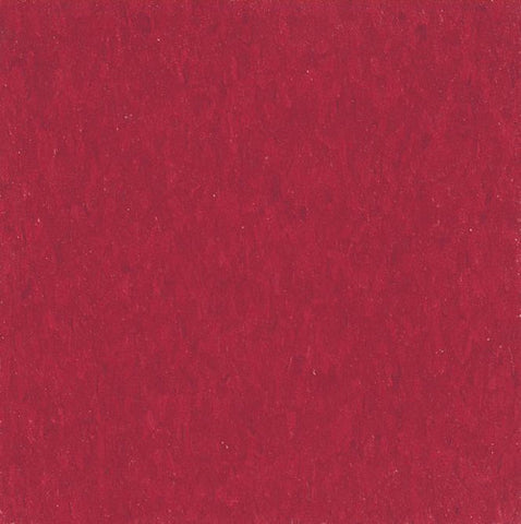 "Armstrong Cherry Red 51816 Vinyl Composition Tile (VCT) 12"" x 12"" Standard Excelon Imperial Texture"