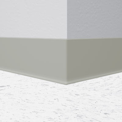 "Flexco Light Gray 025 - 6"" Wallflowers Rubber Wall Base"